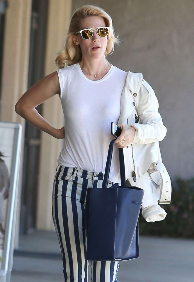 January Jones out in Sherman Oaks