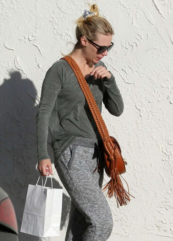 January Jones Out in Woodland Hills