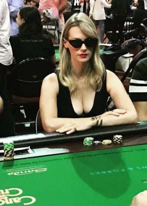 January Jones Playing Poker - Instagram