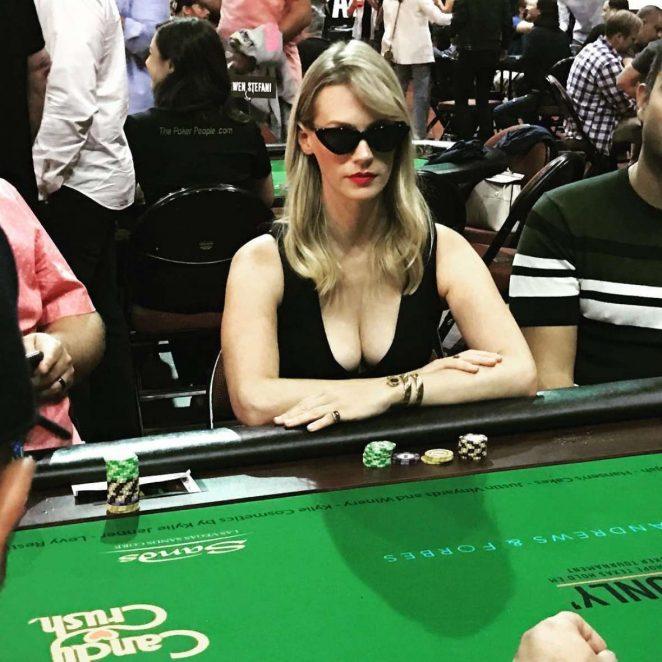 January Jones Playing Poker - Instagram