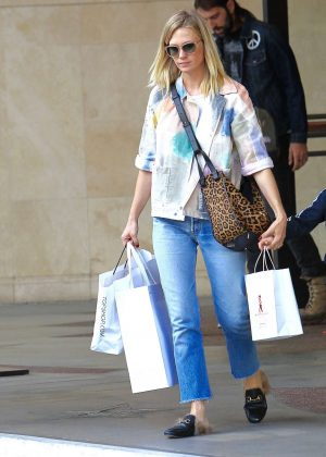 January Jones - Shopping at The Grove in Los Angeles