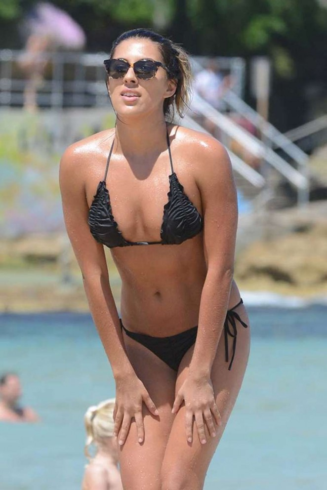 Jasmin Brown in Black Bikini in Sydney