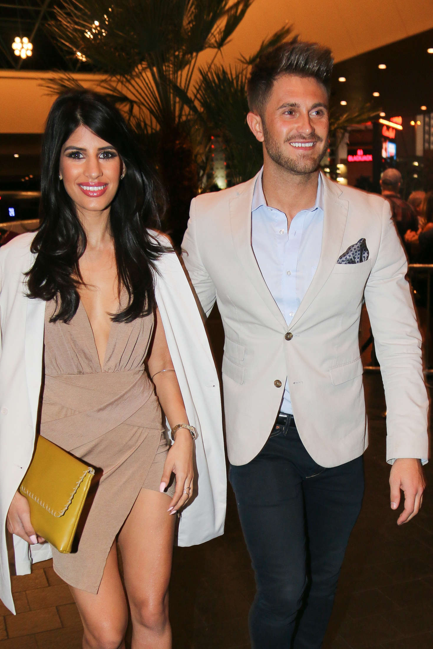 Jasmin Walia and her boyfriend Ross Worswick out in Las Vegas