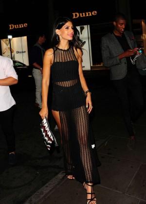 Jasmin Walia in Black Dress at Libertine Club in London