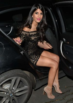 Jasmin Walia in Short Dress at a Christmas Eve Party in London