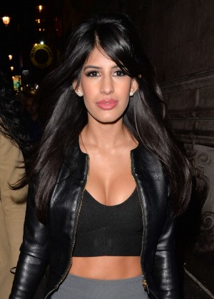 Jasmin Walia - Leaving Dstrct Night Club in London