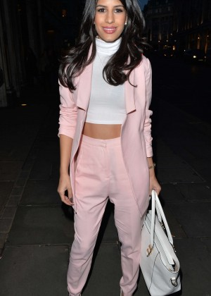 Jasmin Walia - Leaving Nobu in Mayfair