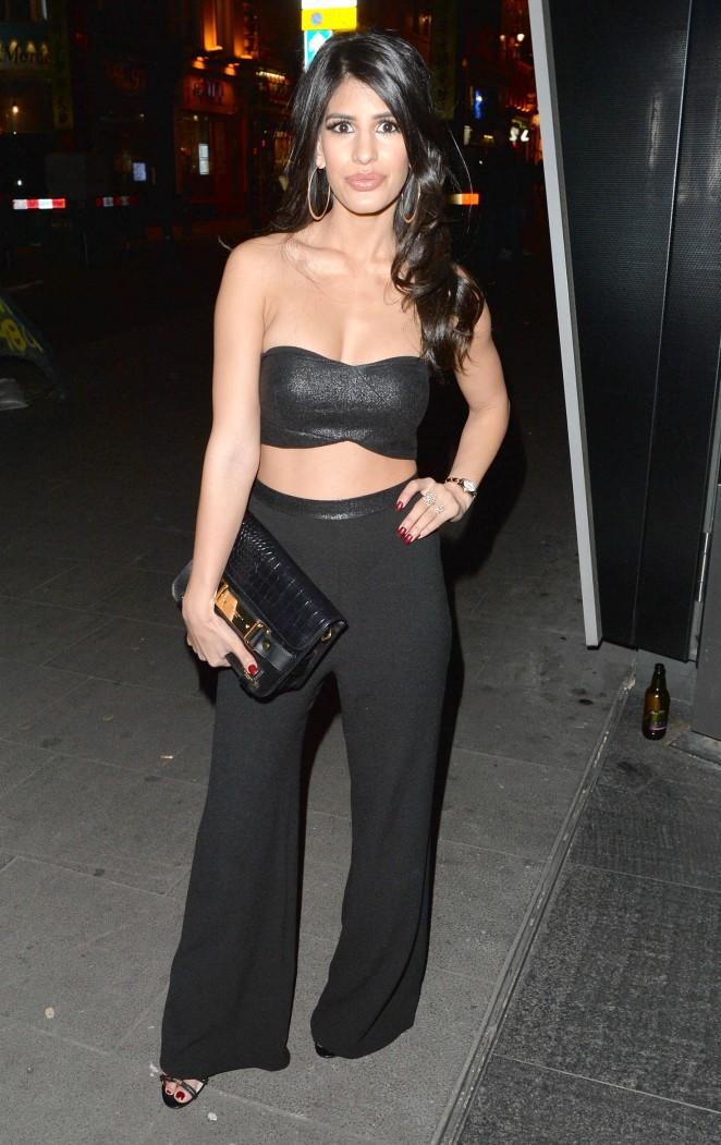 Jasmin Walia Night out in London