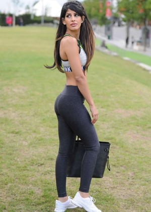 Jasmin Walia in Tights film scenes for the new show in London