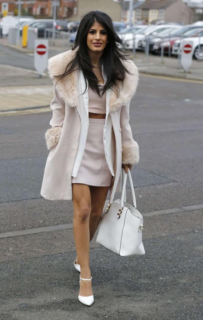 Jasmin Walia in Short Dress -01