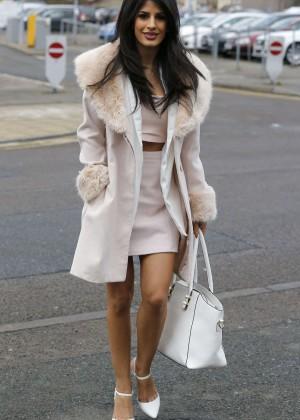 Jasmin Walia in Short Dress out in Essex