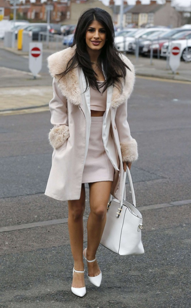 Jasmin Walia in Short Dress out in Essex