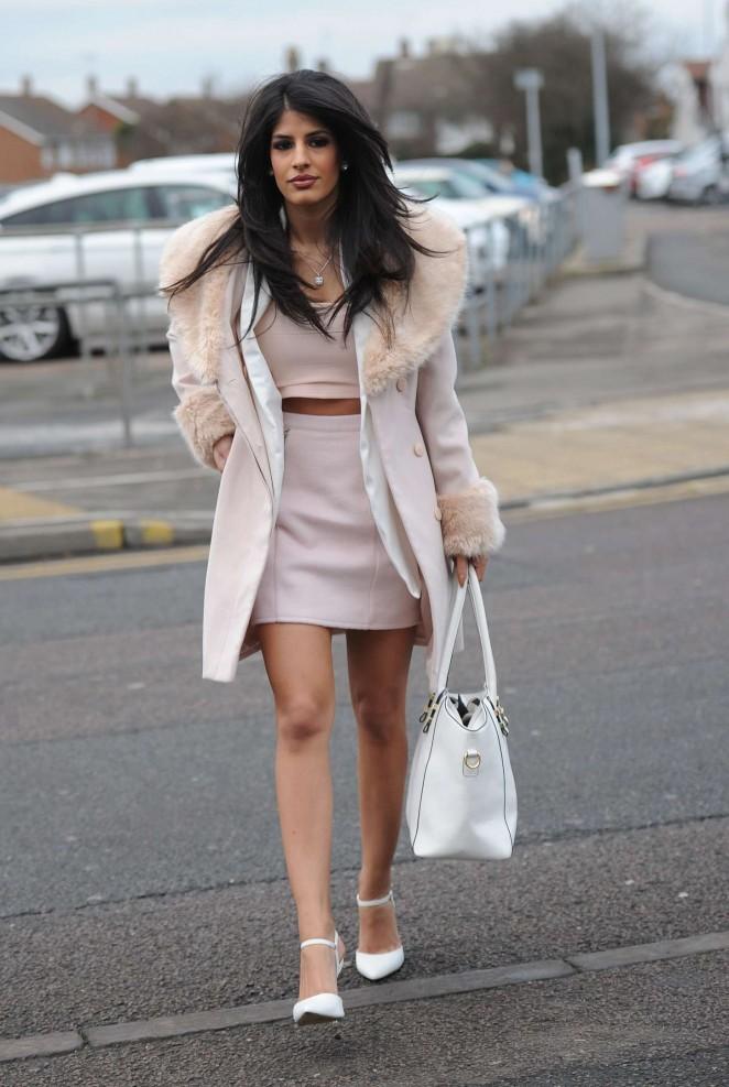 Jasmin Walia in Short Dress -06