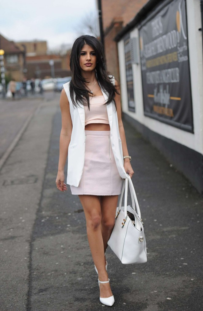 Jasmin Walia in Short Dress -17