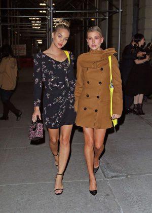 Jasmine Sanders And Hailey Baldwin Leave The Dior Art Of