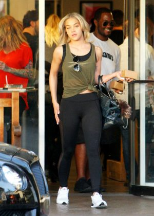 Jasmine Sanders in Tights Shopping in Beverly Hills