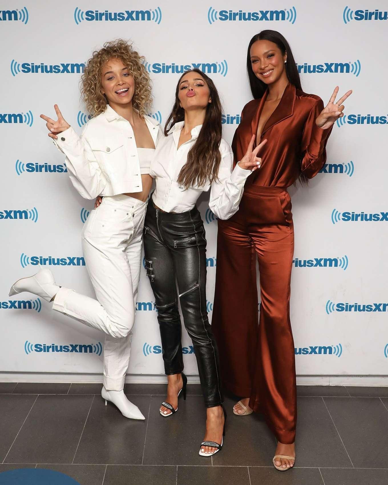 Jasmine Sanders 2019 : Jasmine Sanders Lais Ribeiro and Olivia Culpo: Visit the SiriusXM Studios -07