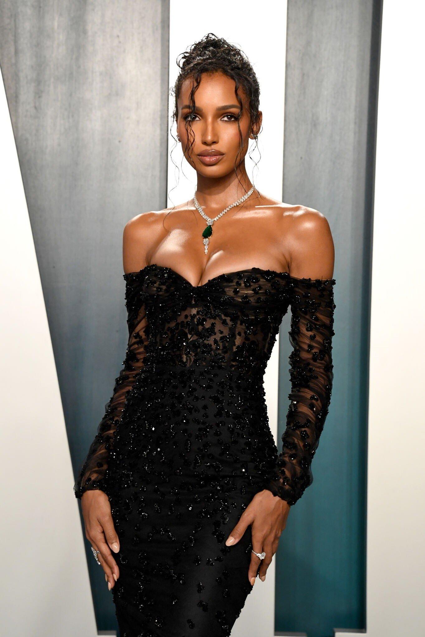 Jasmine Tookes 2020 Vanity Fair Oscar Party In Beverly Hills Gotceleb