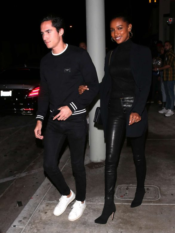 Jasmine Tookes and her boyfriend leaving Catch in Los Angeles