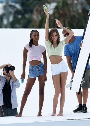Jasmine Tookes and Josephine Skriver - Photoshoot in Miami