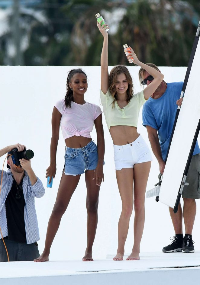 Jasmine Tookes and Josephine Skriver – Photoshoot in Miami