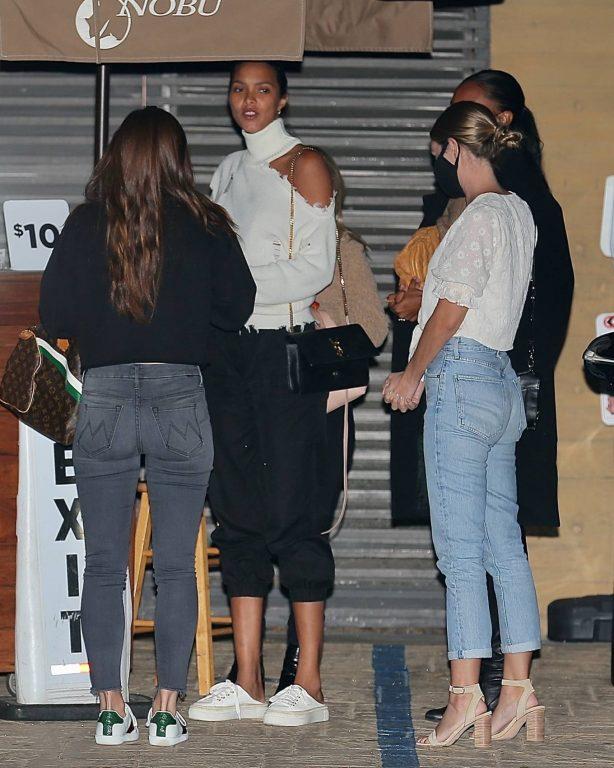 Jasmine Tookes and Lais Ribeiro - Seen at Nobu for dinner in Malibu