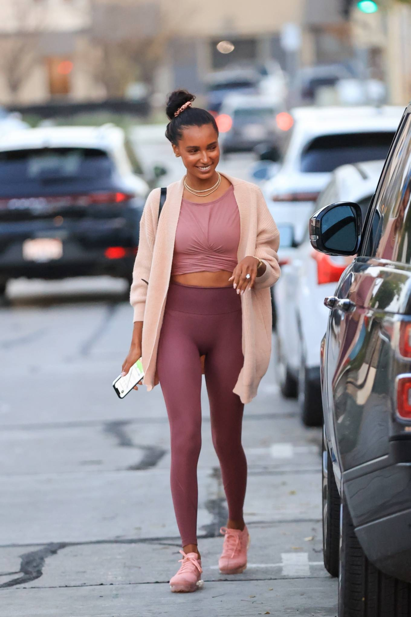 Jasmine Tookes and Sara Sampaio - Spotted at Dogpound Gym in West Hollywood