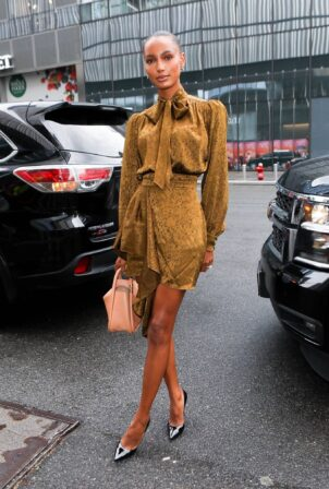 Jasmine Tookes - arriving at the Revolve party during NYFW in New York
