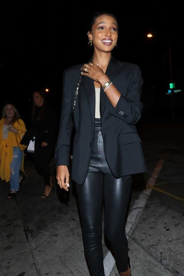 Jasmine Tookes - Arriving for dinner at Craig's in West Hollywood