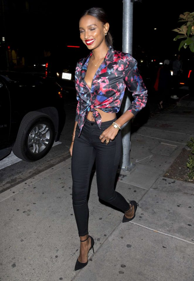 Jasmine Tookes - Arriving for the True Religion event in Los Angels