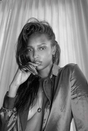Jasmine Tookes - Black and white shoot 2020