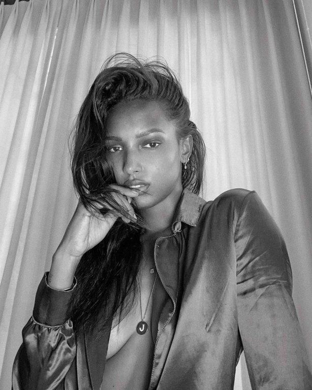 Jasmine Tookes - Black and white shoot 2020
