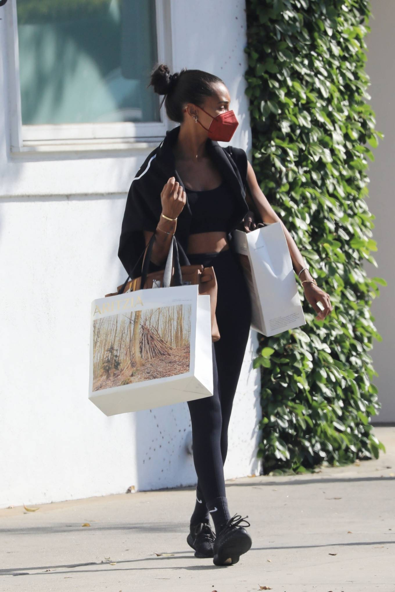 Jasmine Tookes 2021 : Jasmine Tookes – In a workout clothes while out shopping in Beverly Hills-03