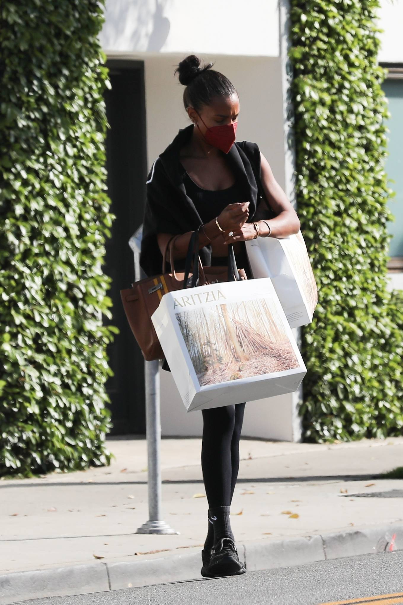 Jasmine Tookes 2021 : Jasmine Tookes – In a workout clothes while out shopping in Beverly Hills-11