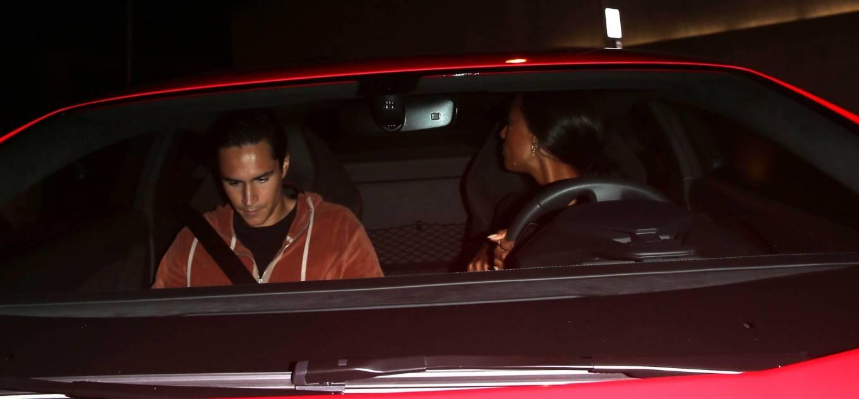 Jasmine Tookes 2021 : Jasmine Tookes – In her new Red Lamborghini at Craigs Restaurant in West Hollywood-05