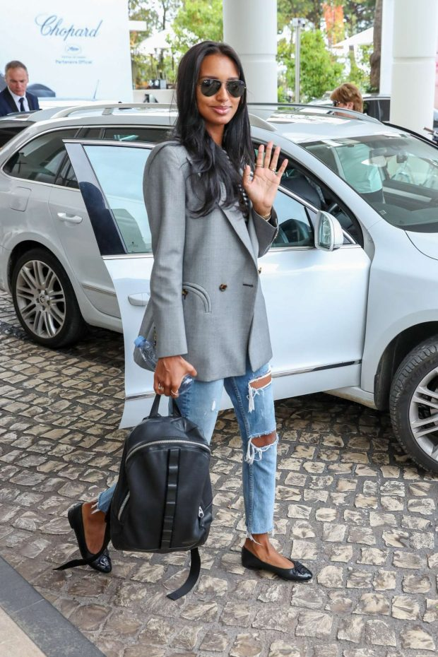 Jasmine Tookes - Leaves Martinez Hotel in Cannes