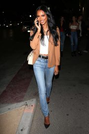 Jasmine Tookes - Leaving the opening of The Dog Pound Gym in West Hollywood