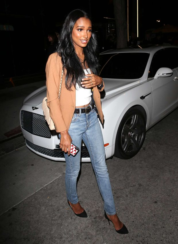 Jasmine Tookes: Leaving the opening of The Dog Pound Gym in West Hollywood-04