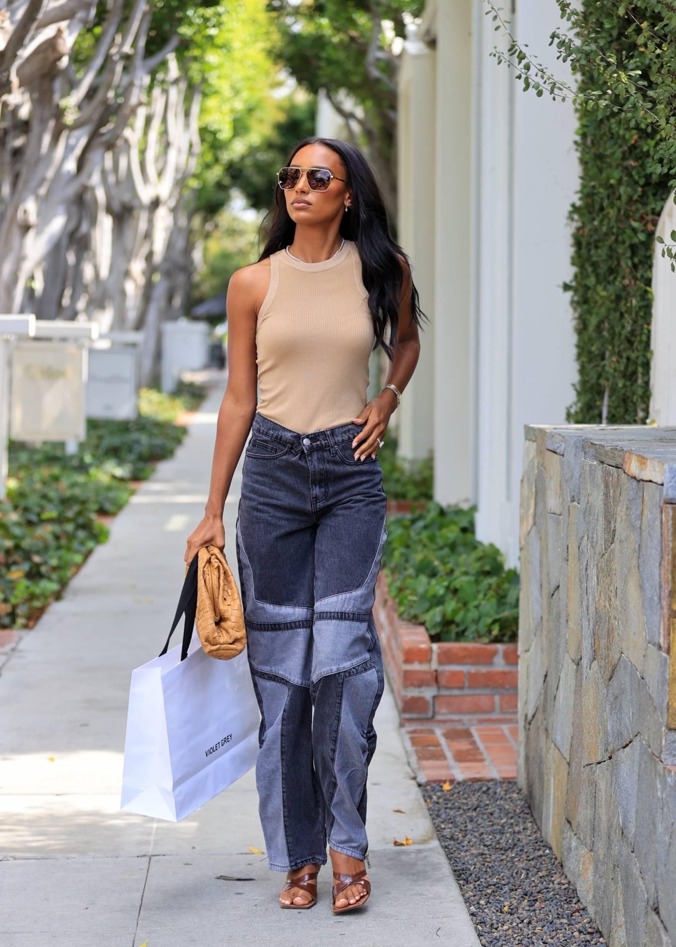 Jasmine Tookes 2021 : Jasmine Tookes – leaving Violet Gray dressed in PLT-03
