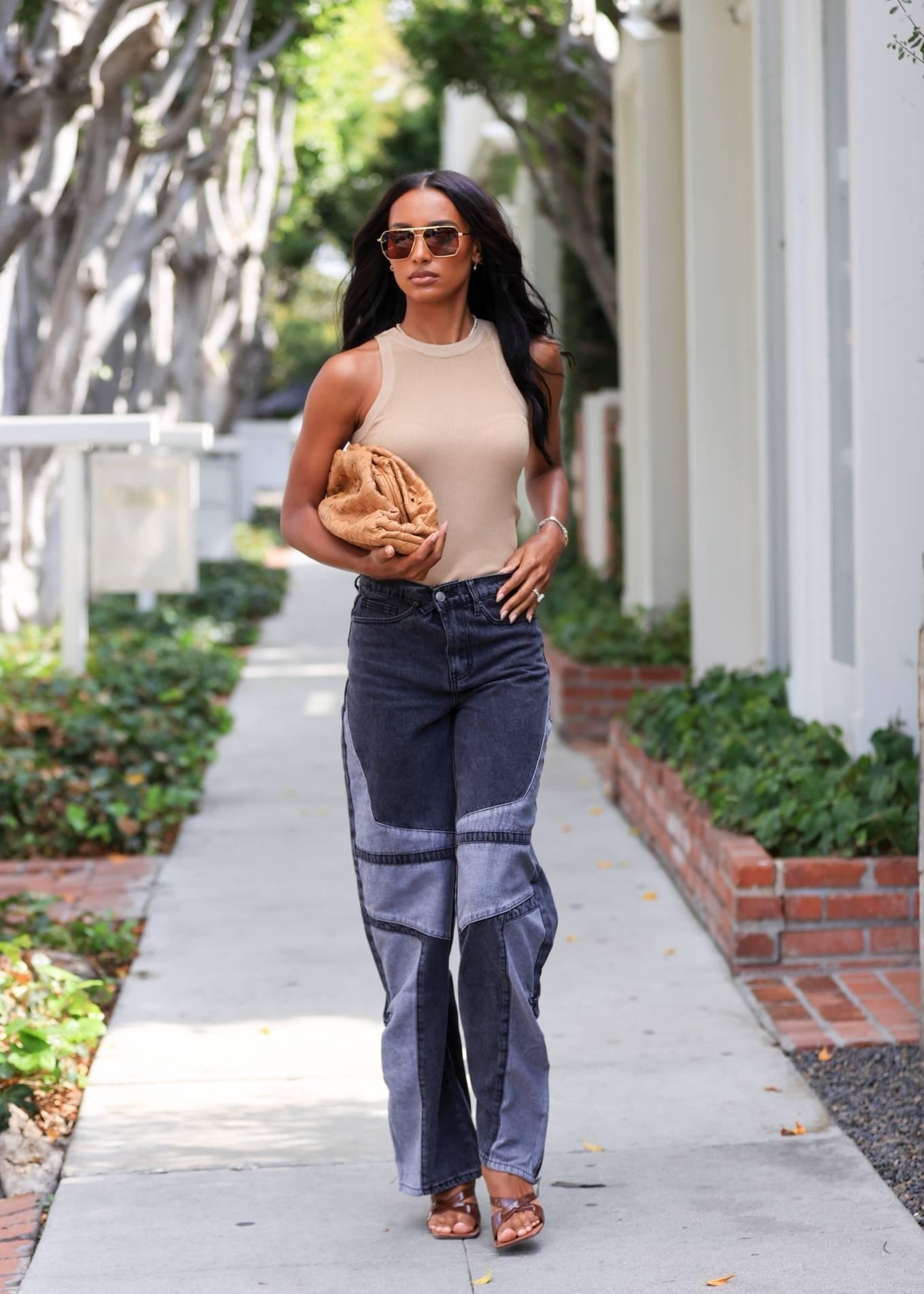 Jasmine Tookes 2021 : Jasmine Tookes – leaving Violet Gray dressed in PLT-04