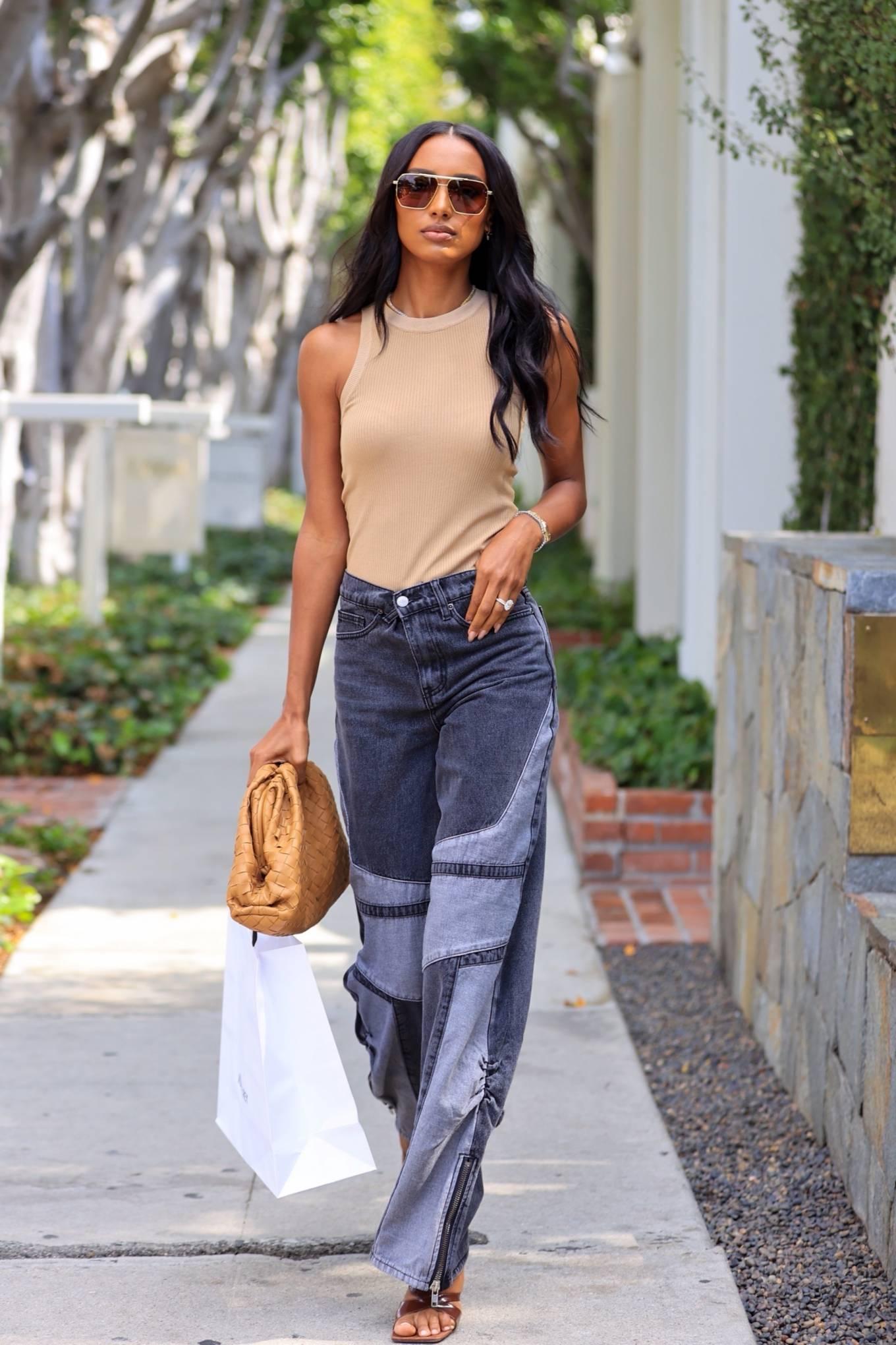 Jasmine Tookes 2021 : Jasmine Tookes – leaving Violet Gray dressed in PLT-05