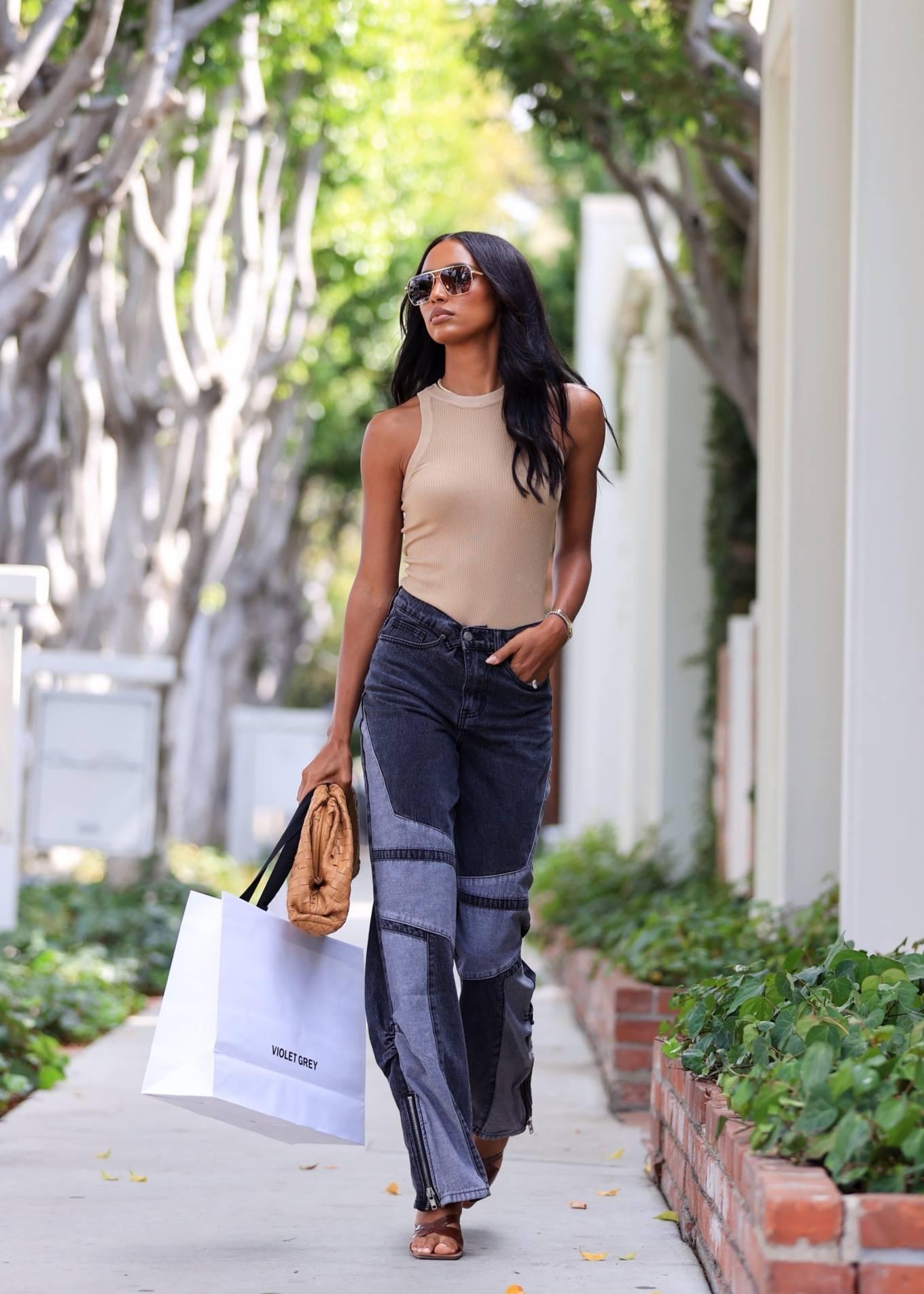 Jasmine Tookes 2021 : Jasmine Tookes – leaving Violet Gray dressed in PLT-07