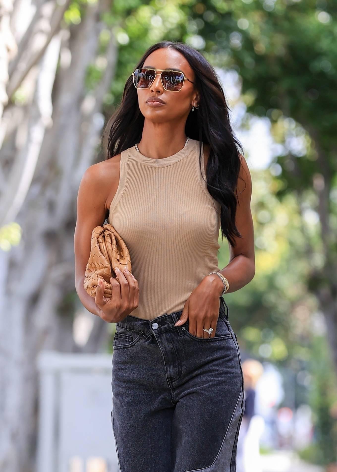Jasmine Tookes 2021 : Jasmine Tookes – leaving Violet Gray dressed in PLT-08