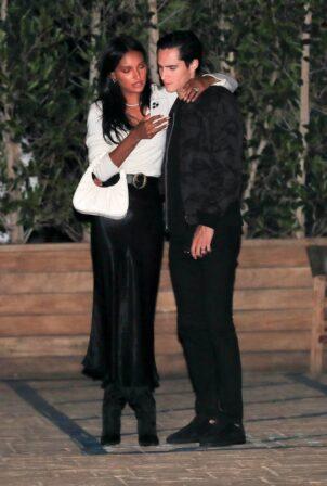 Jasmine Tookes - Night out celebrating a friend's birthday at Soho House in Malibu