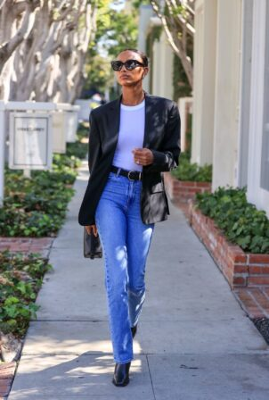 Jasmine Tookes - Shopping in West Hollywood