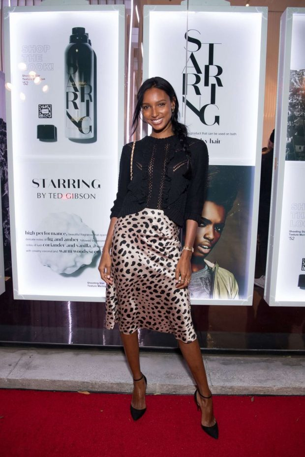 Jasmine Tookes: STARRING by Ted Gibson Salon Opening -02