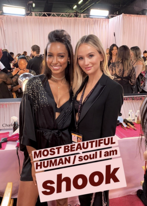 Jasmine Tookes - Victoria's Secret Fashion Show 2018 Backstage in NY