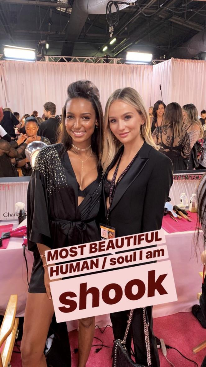 Jasmine Tookes - Victoria's Secret Fashion Show 2018 Backstage in NY