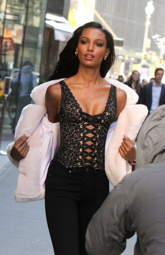 Jasmine Tookes - Victoria's Secret Fashion Show Fittings in New York