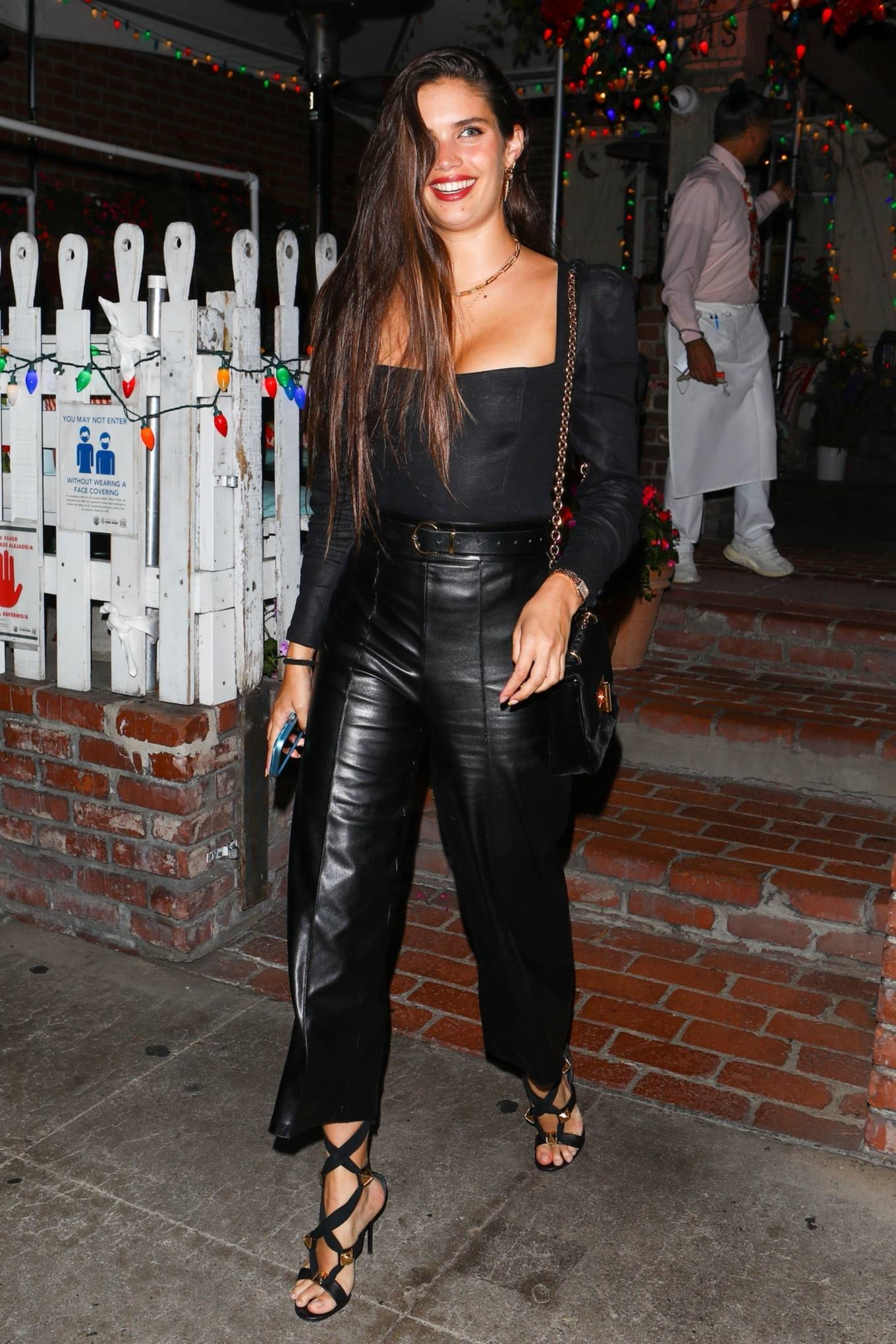 Jasmine Tookes 2021 : Jasmine Tookes – With Josephine Skriver and Sara Sampaio night out at the Ivy in West Hollywood-01
